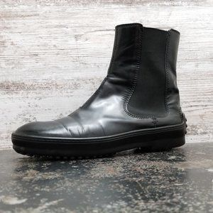 Womens Tods Patent Leather Chealsea Boots 6.5 37